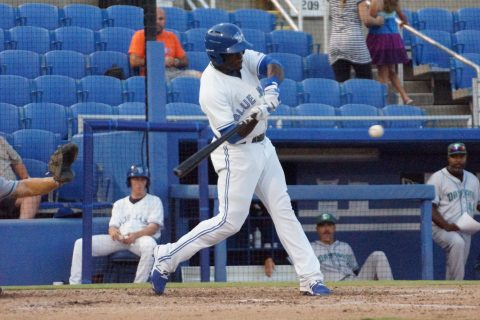 Prospect Anthony Alford 2-Run Homer to Deep Right Center (EDDIE MICHELS PHOTO)