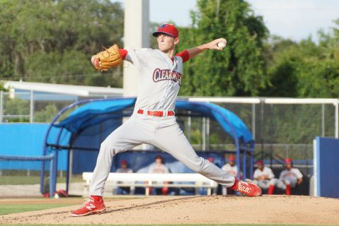 Lefty Brandon Leibrandt (0-1), son of former major leaguer Charlie Leibrandt took the loss Wednesday as the Dunedin Blue Jays beat the Clearwater Threshers 7-2.  The younger Leibrandt went five innings allowing four runs on seven hits while walking two and striking out a like amount. (EDDIE MICHELS PHOTO)