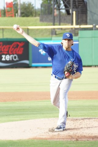 Dunedin RHP Chris Rowley went five innings on Thursday against Clearwater allowing five runs, three earned on nine hits while walking two and striking out four. (EDDIE MICHELS PHOTO)