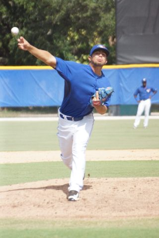 GCL Blue Jays RHP Juan Meza took the loss on Saturday against the Yankees West squad. Meza went just 1 2/3 innings allowing three runs on four hits while striking out three. Meza also allowed two homers on back to back pitches. (EDDIE MICHELS PHOTO)