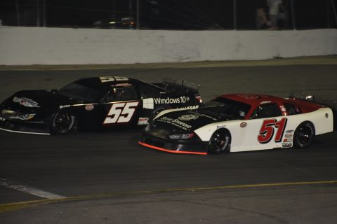 Nasse takes the lead on lap 6 and never looked back (photo Rodney Meyering)