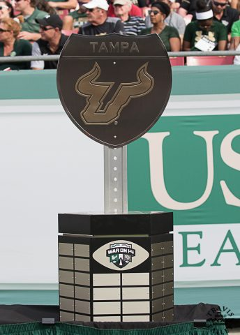 """""""I'm definitely going to hold it (trpohy) once it comes back to USF.""""  MARLON MACK (TRAVIS FAILEY PHOTO)"""