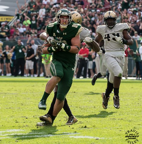 Mitchell Wilcox with a 32 yard reception (TRAVIS FAILEY PHOTO)